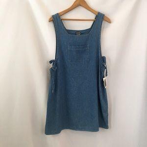 Vintage 90s denim romper dress